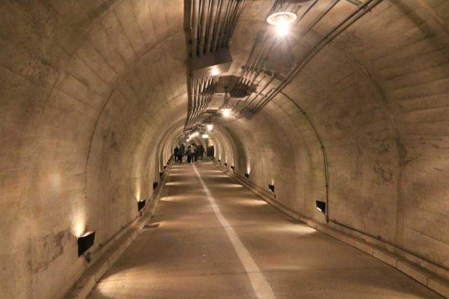 袋田の滝のトンネル風景