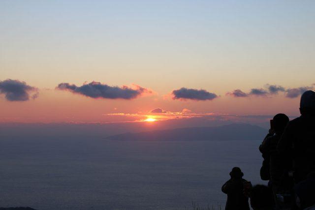 大室山からの初日の出