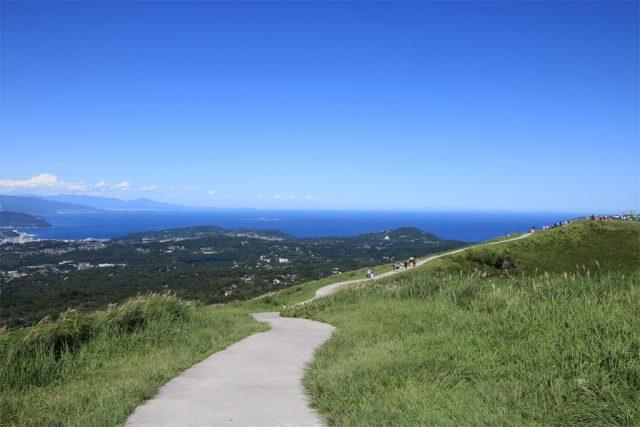 大室山、山頂からの眺望
