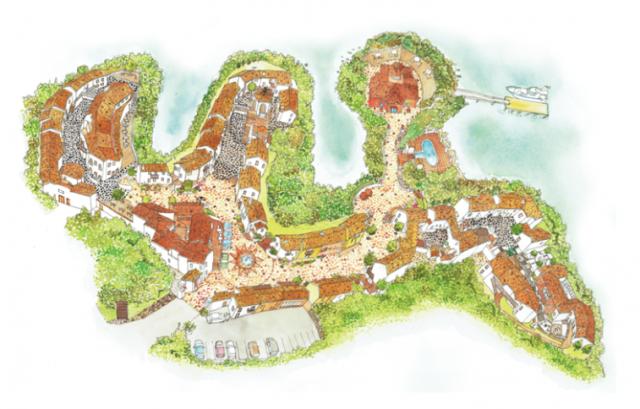 志摩地中海村の村内マップ