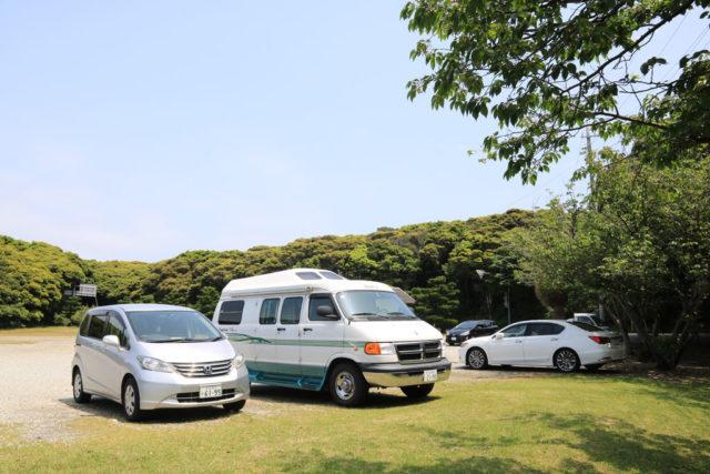 潮岬灯台の駐車場