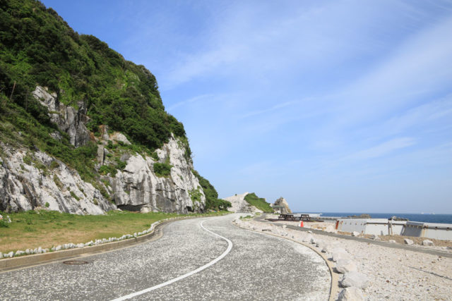 白崎海洋公園の道